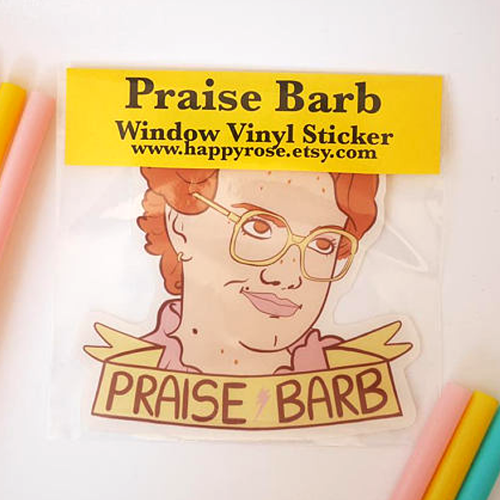 Praise Barbe Vinyl Decal