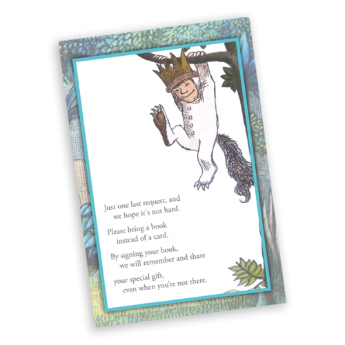 Where the Wild Things Are Inspired Book Card Insert for Baby Shower