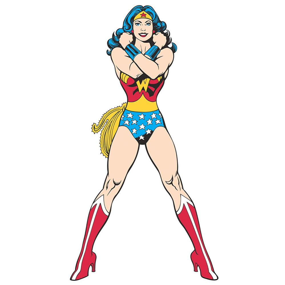 Classic Wonder Woman Peel And Stick Giant Wall Decal