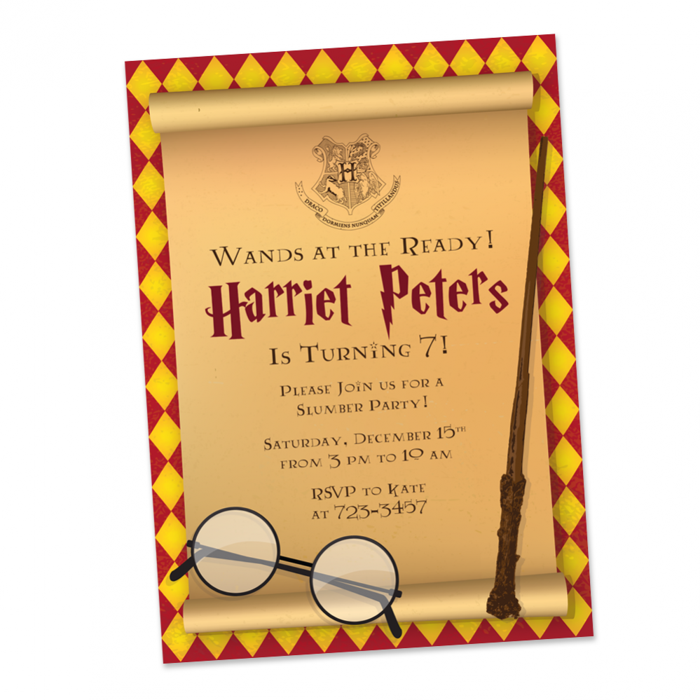 Harry Potter Birthday Party Invitaiton